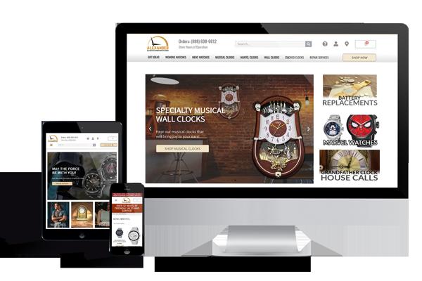Website Portfolio of Clock and Watch Shop