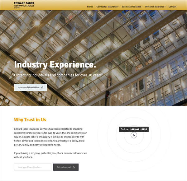 Creative Website Design Contractor Insurance