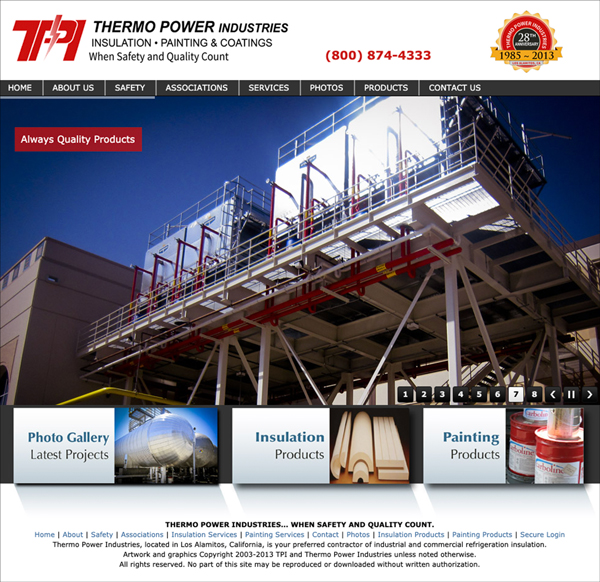 Creative Website Design Commercial Insulation and Painting