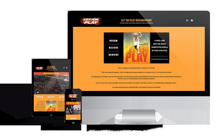 Website Portfolio of Documentary Film Landing Page