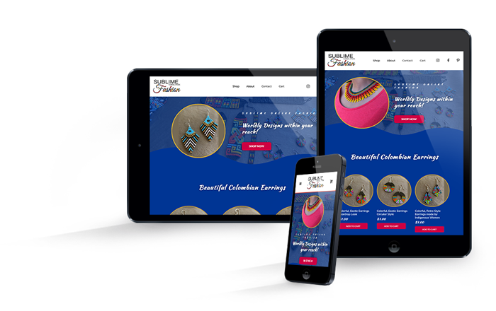 Website Portfolio of Beaded Jewelry E-Commerce Shop