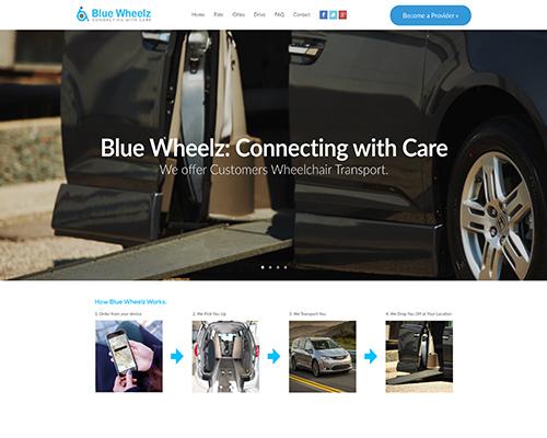 Custom HTML Development Rideshare Wheelchair Transport Website Work