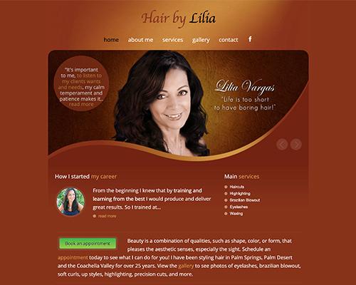 Website Design Custom HTML Development Hair Stylist
